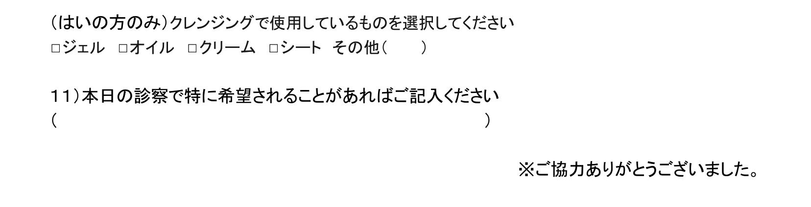 ニキビ問診票-2